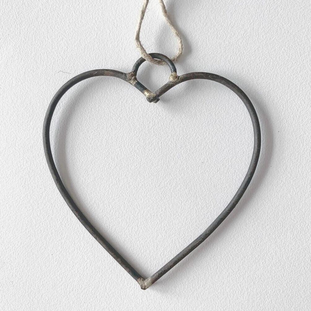 Metal hjerte fra Cozy Room til ophæng, 7 cm