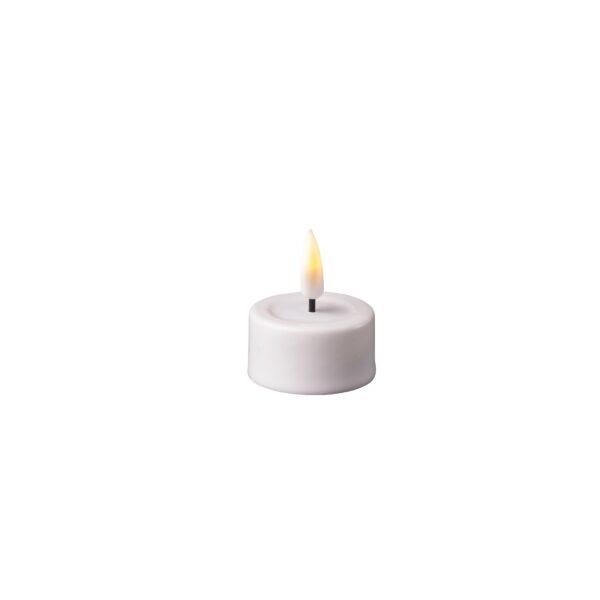Hvid LED stearin fyrfadslys (2 stk)